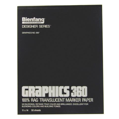 "Bienfang Graphics 360 Marker Pad - 11"" x 14"""