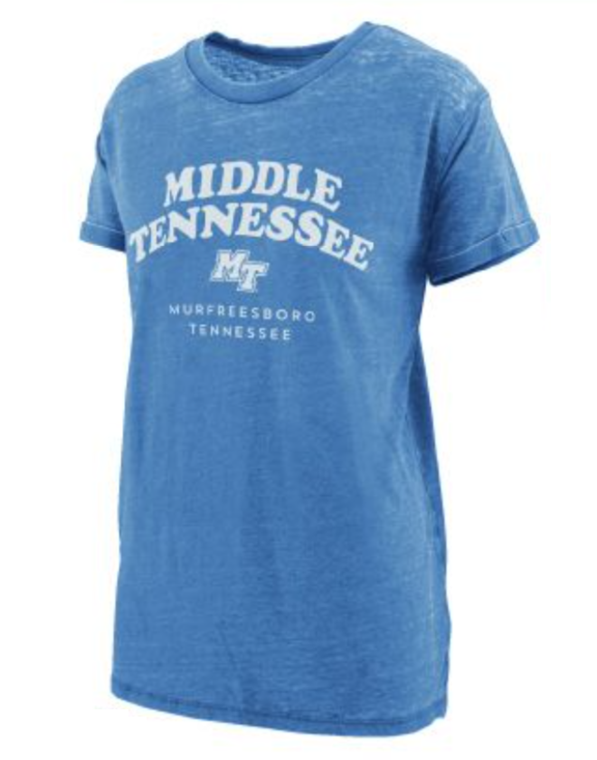 Middle Tennessee Vintage Wash Boyfriend Shirt