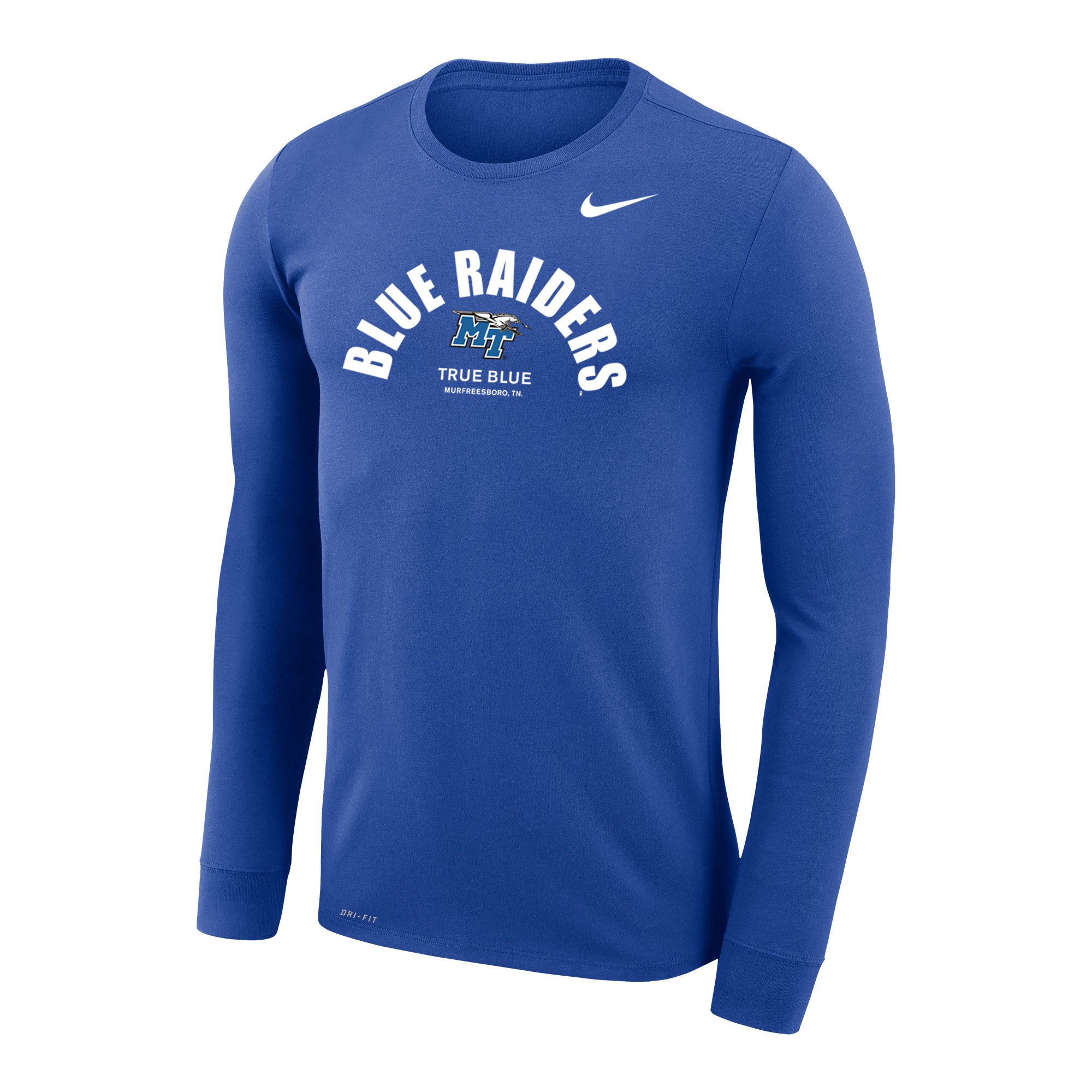 Blue Raiders Nike® Legend Travel DriFit Long Sleeve Shirt