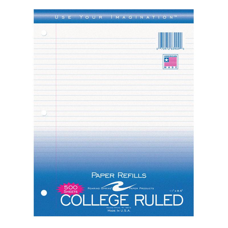 College Ruled Notebook Filler Paper