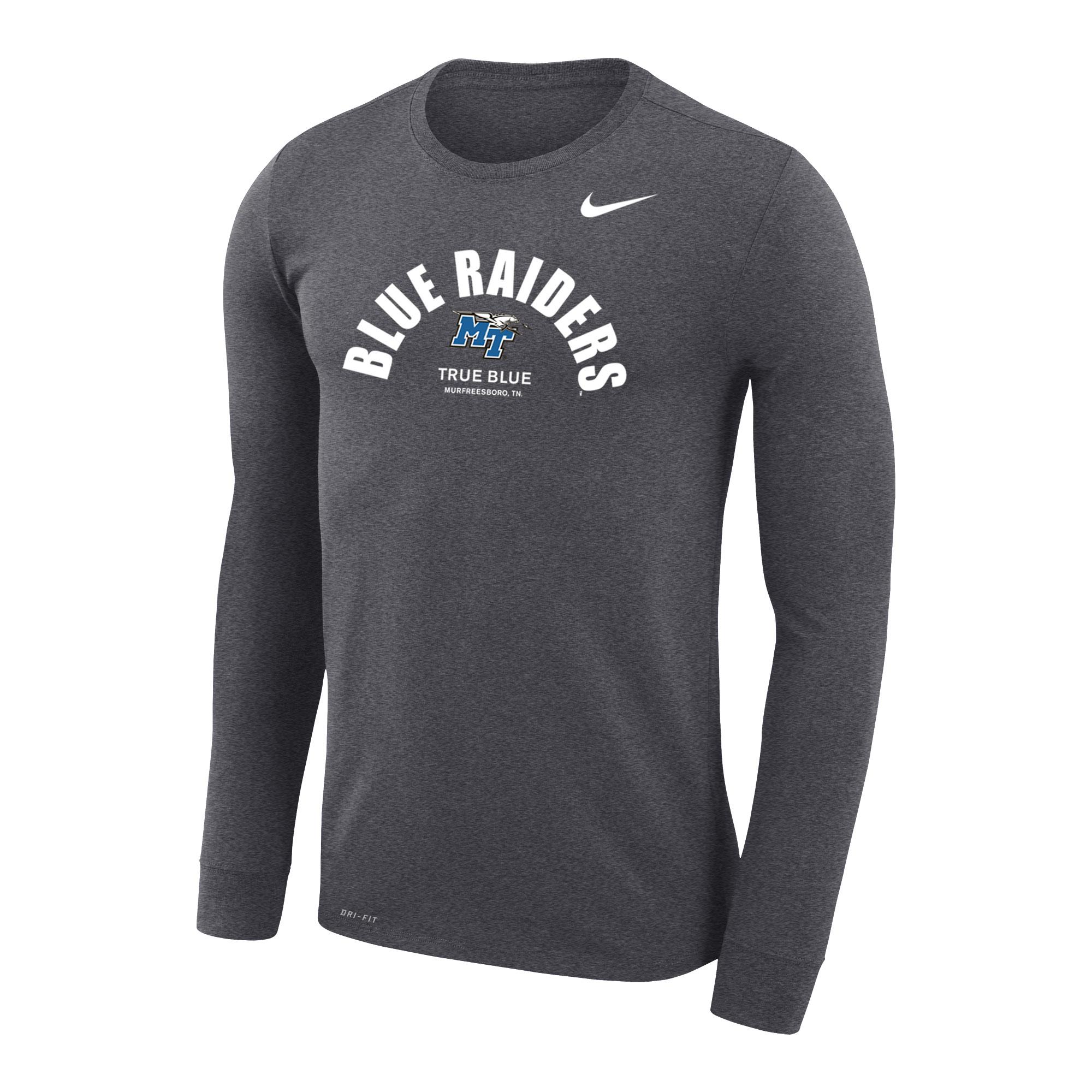 Blue Raiders Nike® Legend Travel DriFit Long Sleeve Shirt