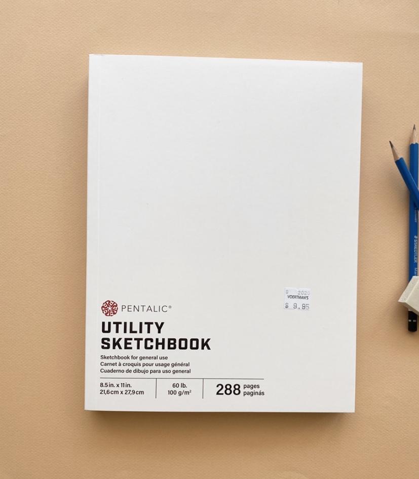 "Pentalic Utility Sketchbook, 8.5""x11"""