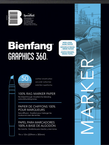 "Bienfang Graphics 360 Marker Pad, 50 sheets - 9"" x 12"""