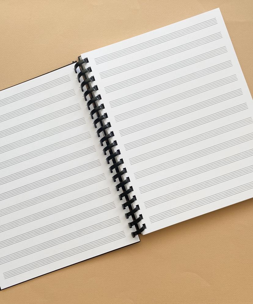 Komtrak Refillable Music Staff Notebook