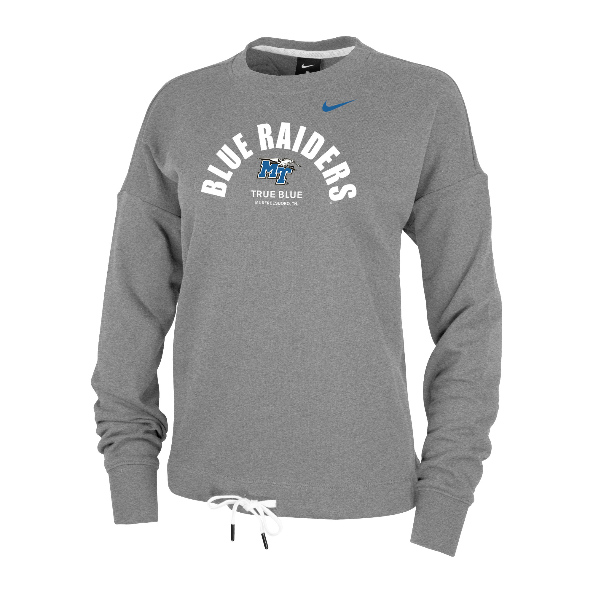 Blue Raiders True Blue Women's Fleece Nike® Crew Sweatshirt