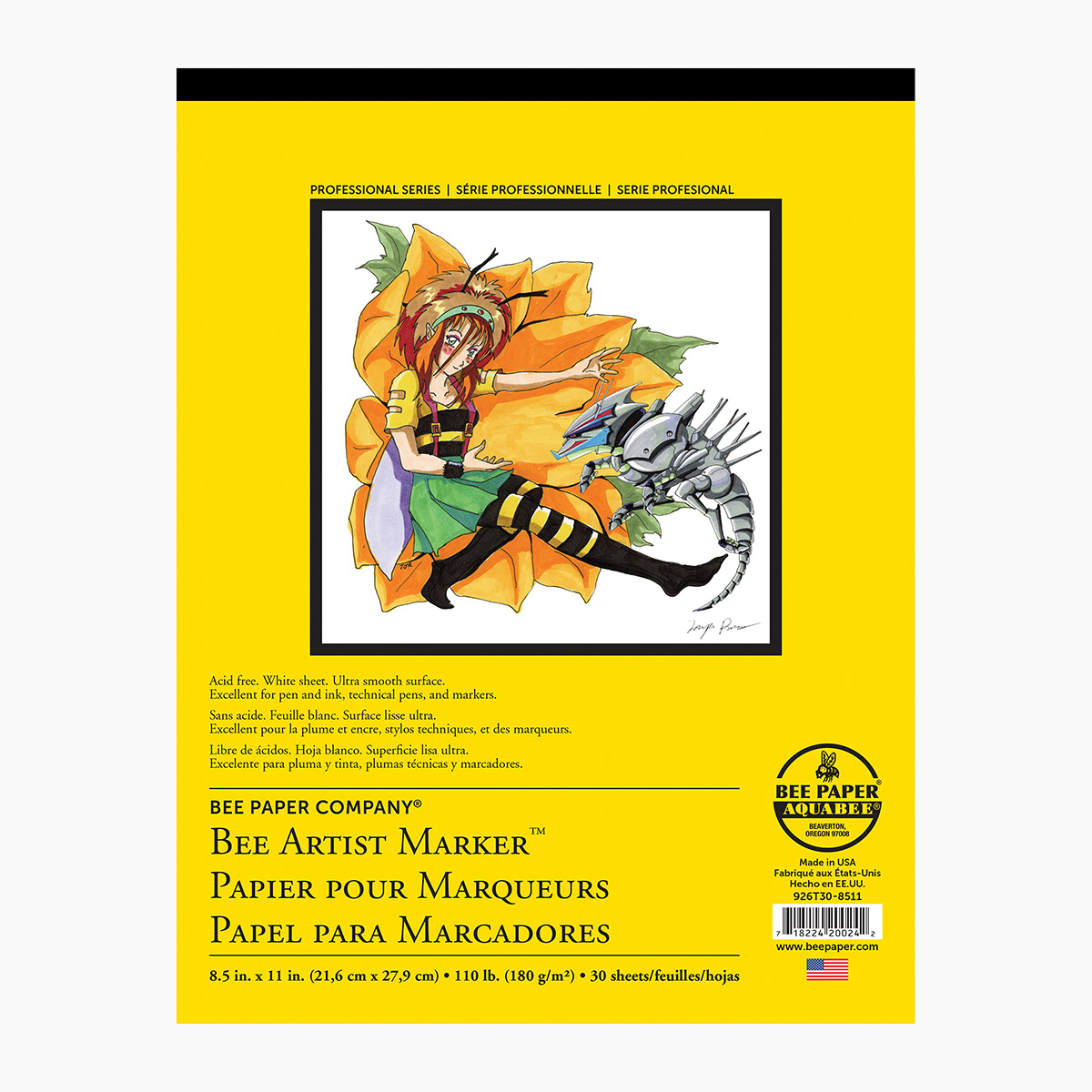 "Bee Paper Artist Marker Paper - 11""x14"""