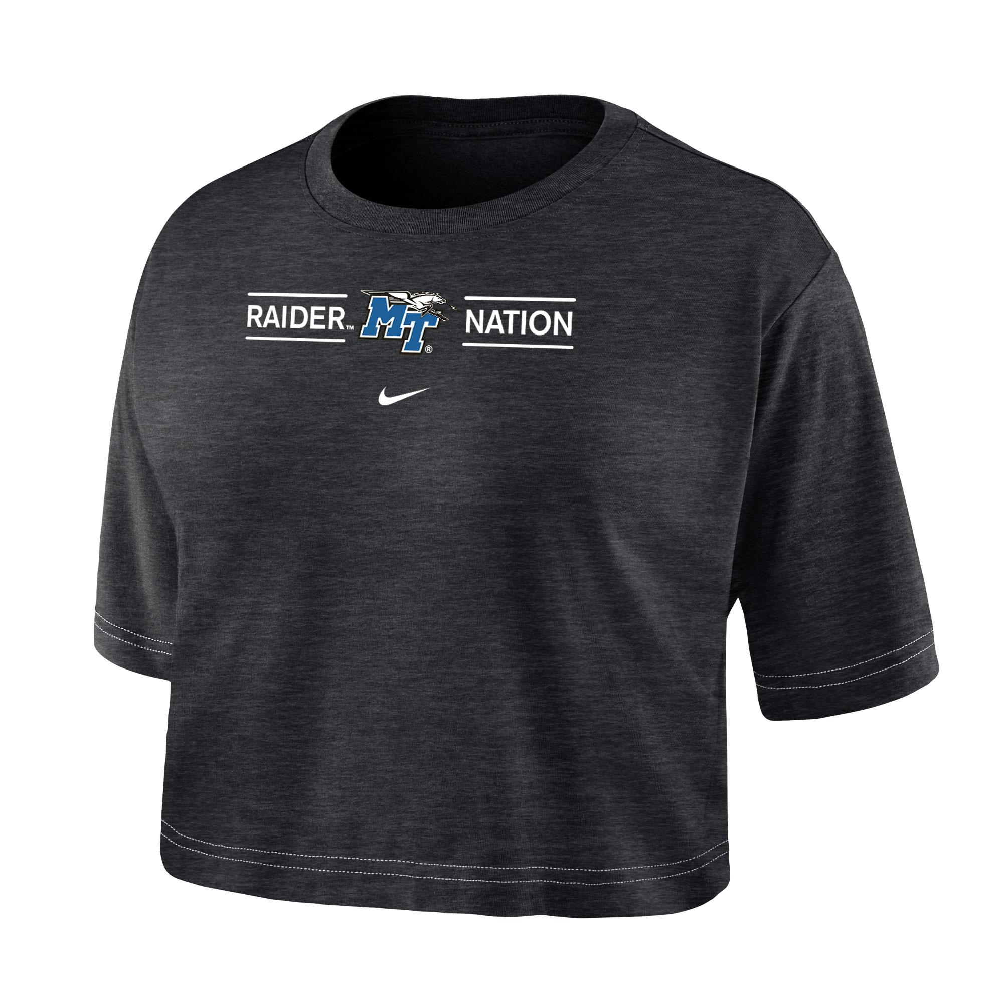 Raider Nation Women's Nike® Dri-Fit Cotton Slub Crop Top