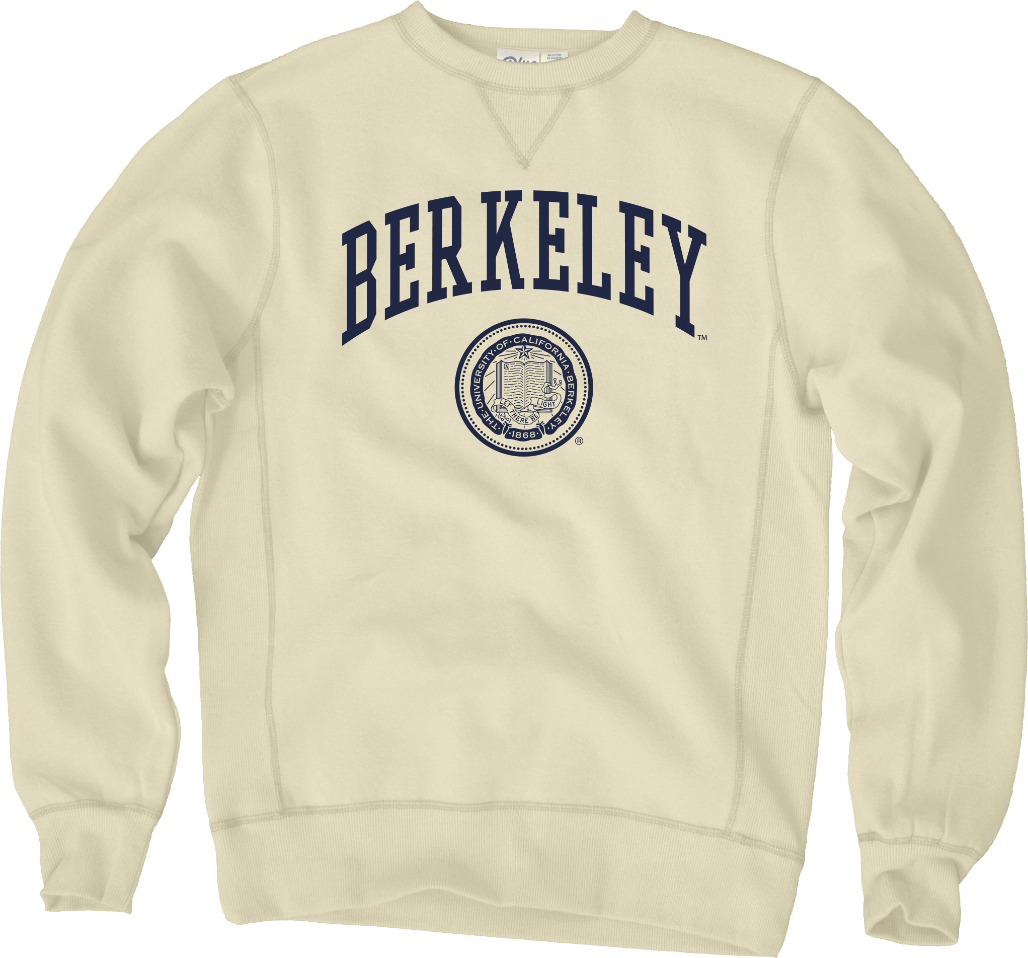 Cal Bears Sanded Fleece Crew Neck Berkeley Seal