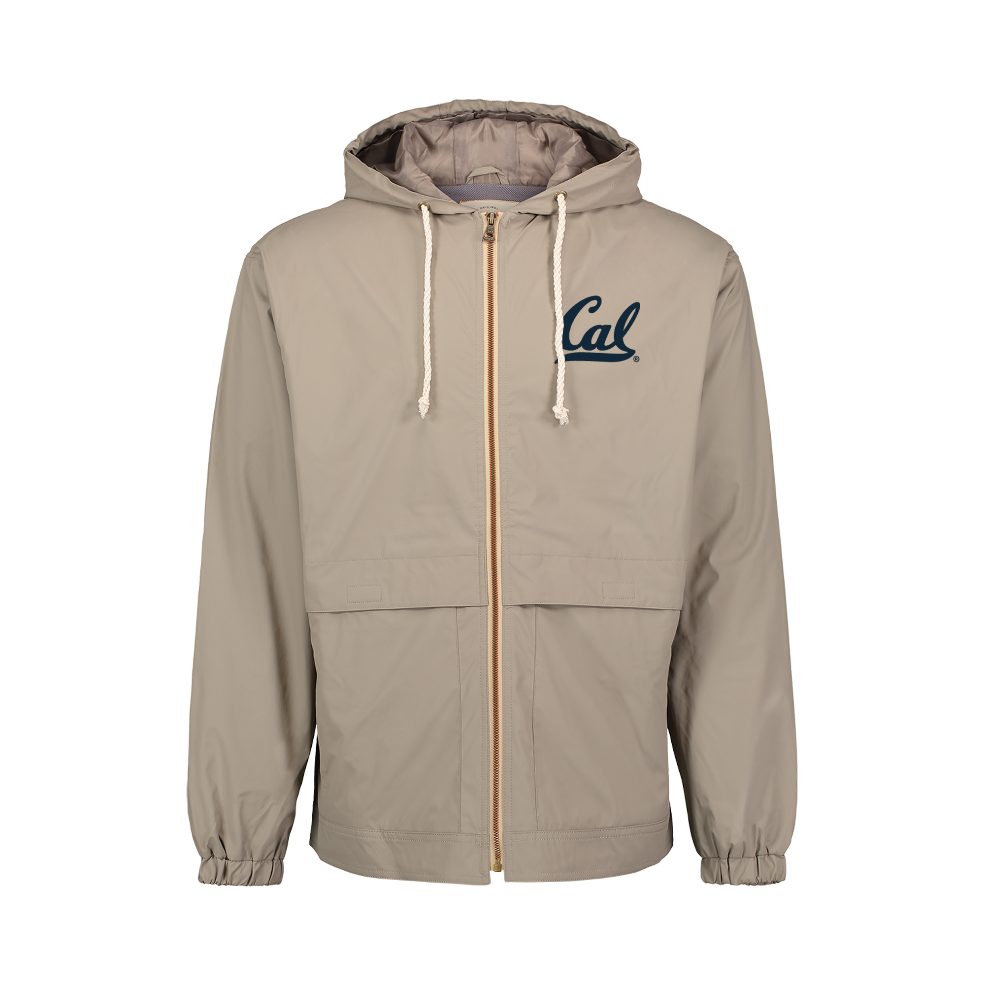 Cal Bears Hooded Rain Jacket Cal Logo Gold