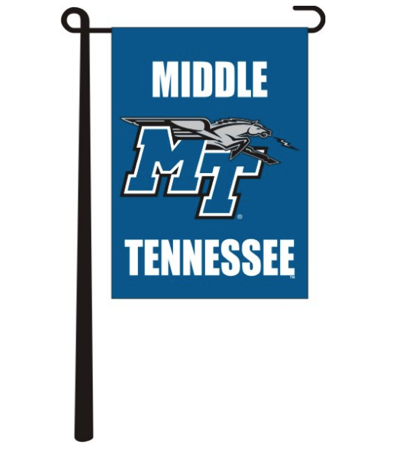 Middle Tennessee MT Logo Garden Flag