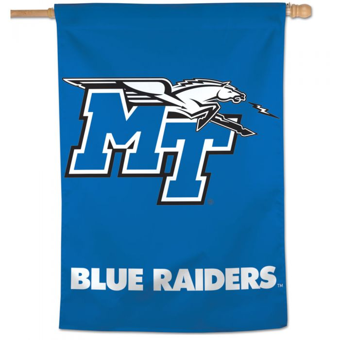 MT Logo Blue Raiders Middle Tennessee Vertical Flag