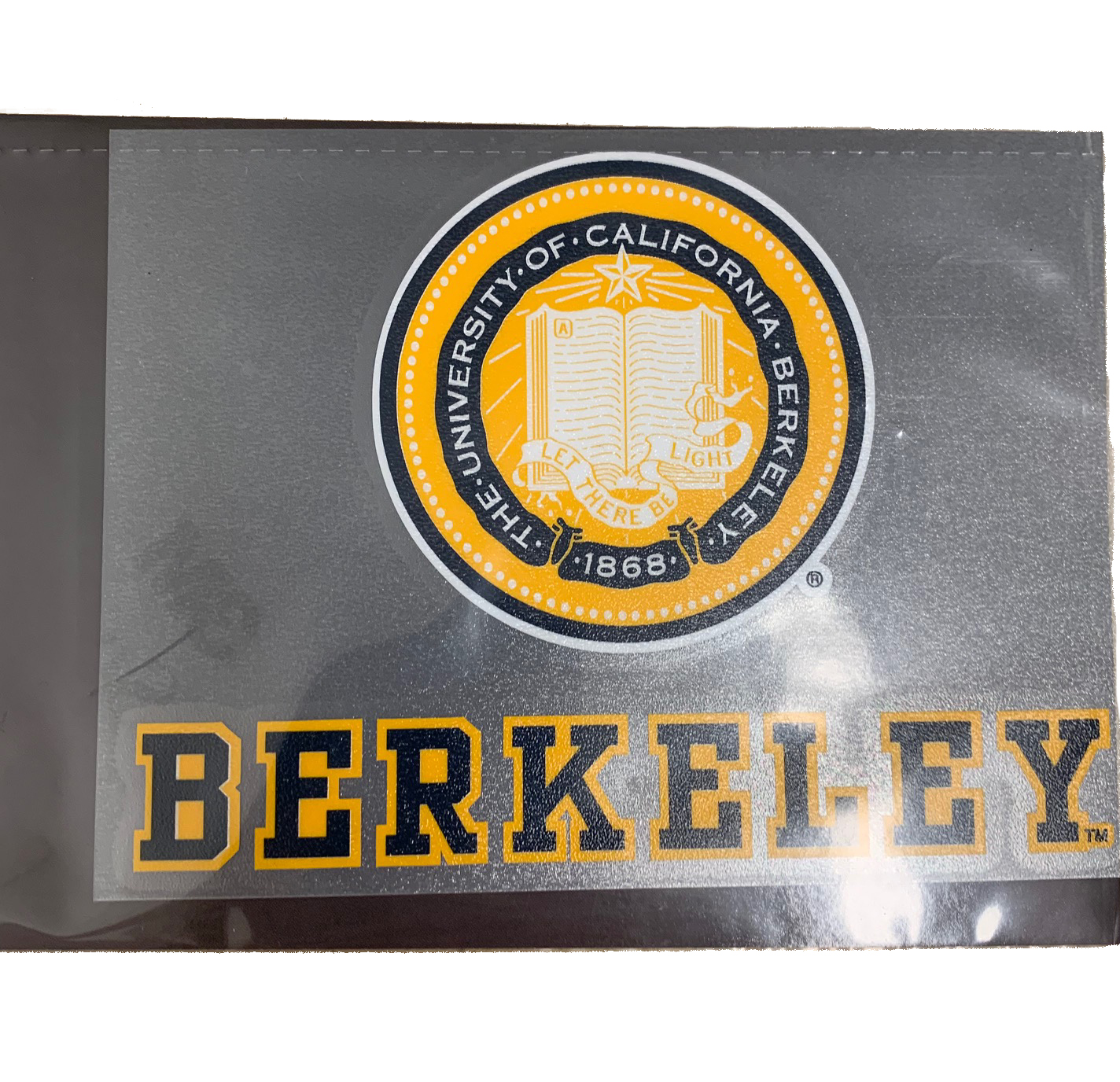 University of California Seal over Berkeley Decal