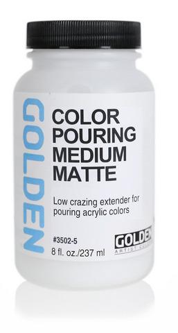 Golden Color Pouring Medium, Matte