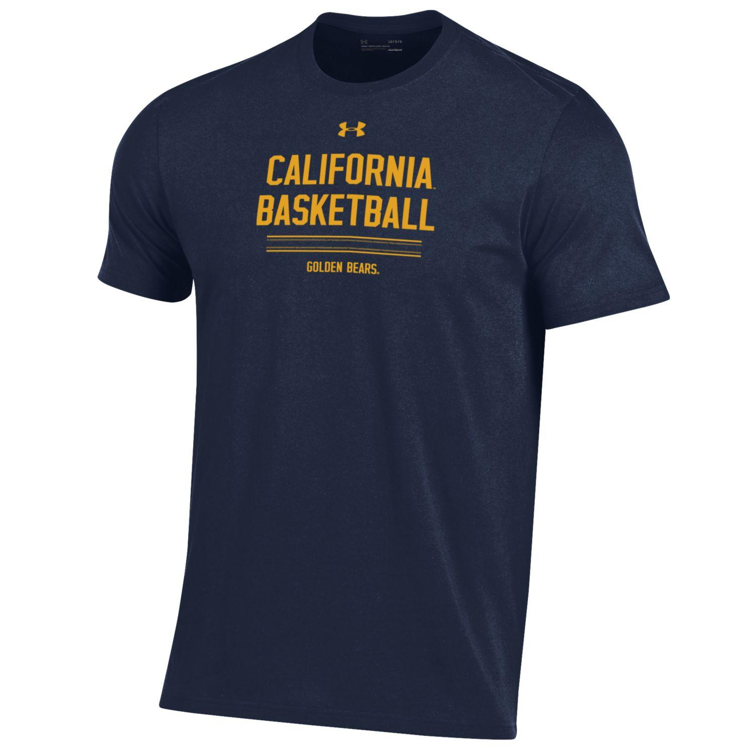 Cal Bears Under Armour Men's Performance Cotton SS Basketball Tee