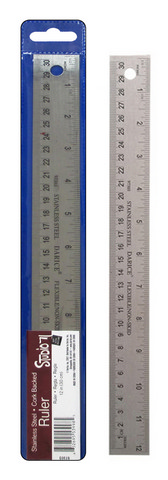 Stainless Steel Ruler 12""
