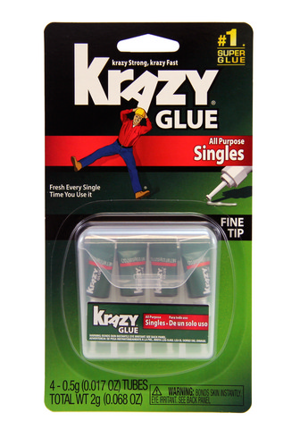 Krazy Glue All Purpose Singles, 4-pack