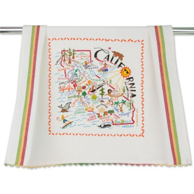 Catstudio State of California Dish Towel