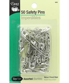 Safety Pins - 50-Pack