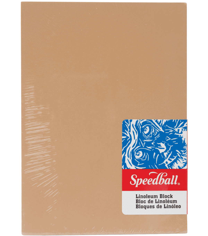 "Speedball Tan Linoleum Block, 5""x7"""