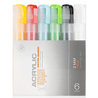 Montana Acrylic Markers, 6-Color Set