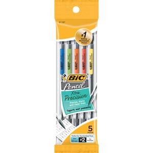 Bic Xtra-Precision Mechanical Pencils, 5-Pack, 0.5mm