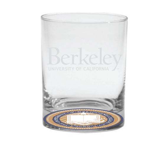 Cal Bears 14oz Old Fashioned Glass Berkeley Logo