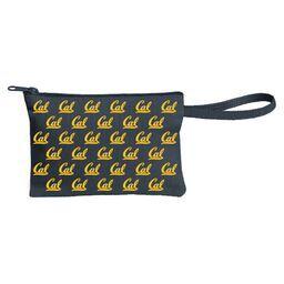 Cal Bears Norma Wristlette Cal Logo Gold Zipper Gold Art