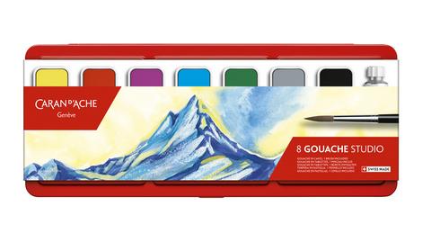 Caran D'Ache Studio Gouache, 8-Color Set
