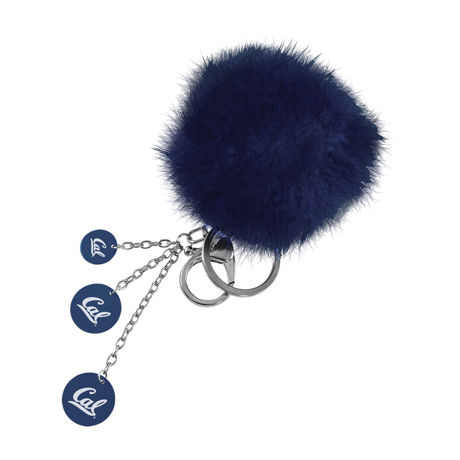Puffball Key Chain Cal Logo