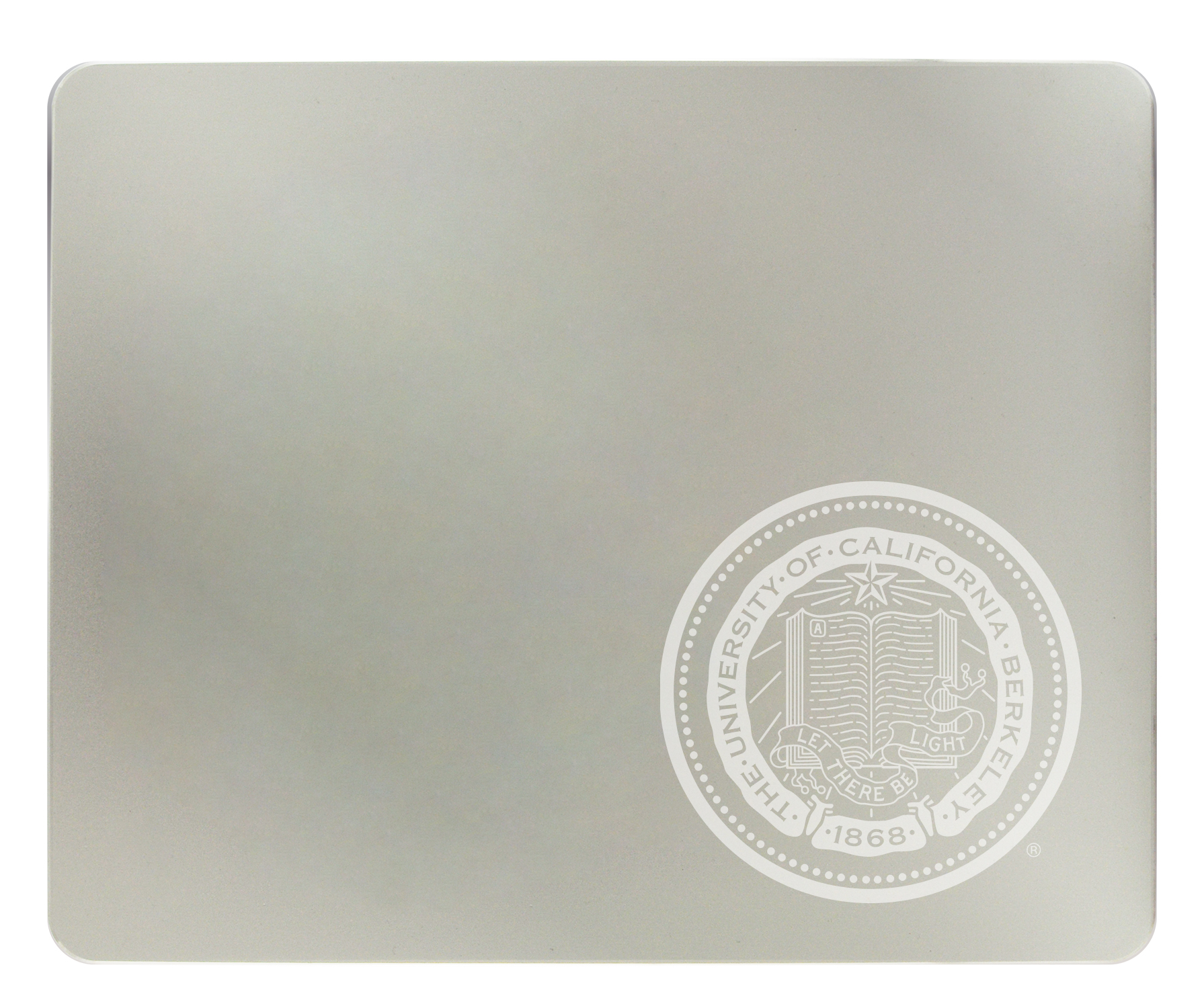 Ultra Modern Silver Mouse Pad Seal Logo