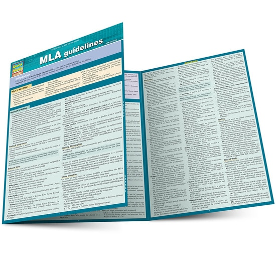 MLA Guidelines QuickStudy Laminated Study Guide