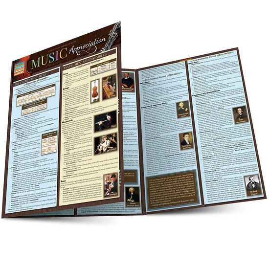 Music Appreciation QuickStudy Laminated Study Guide