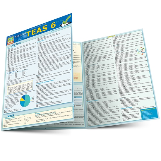 Nursing TEAS Guide QuickStudy Laminated Study Guide