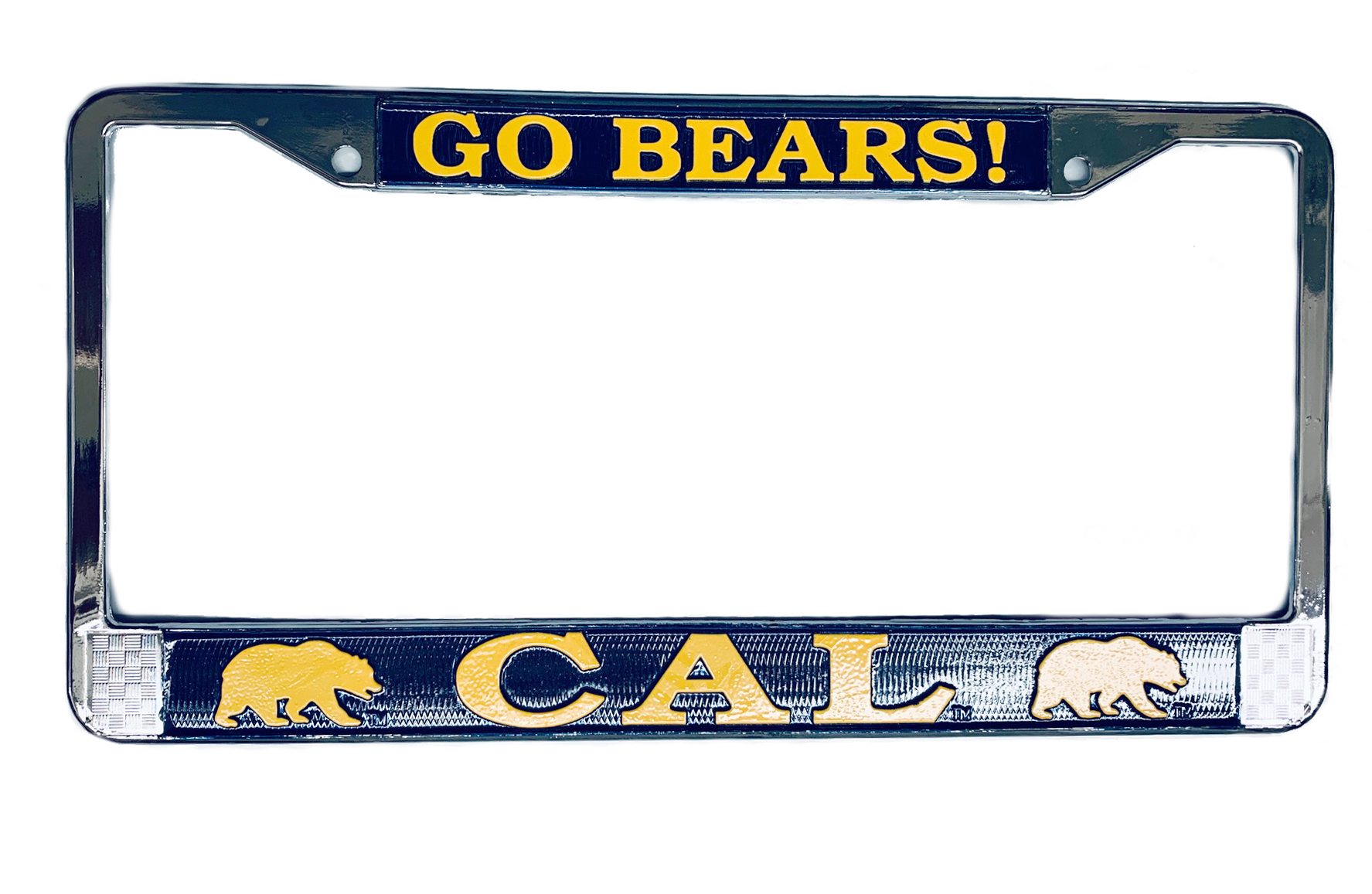 "Cal Bears License Plate Frame ""Go Bears"""