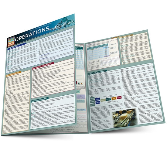 Operations Management QuickStudy Laminated Study Guide