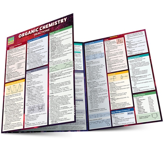 Organic Chemistry Reactions QuickStudy Laminated Study Guide