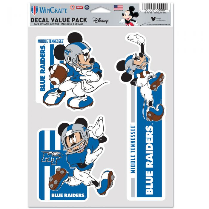 Middle Tennessee Mickey Mouse Football Multi-Use Decals
