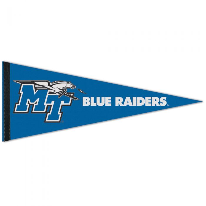 """MT Logo Middle Tennessee 12"""" x 30"""" Pennant"""
