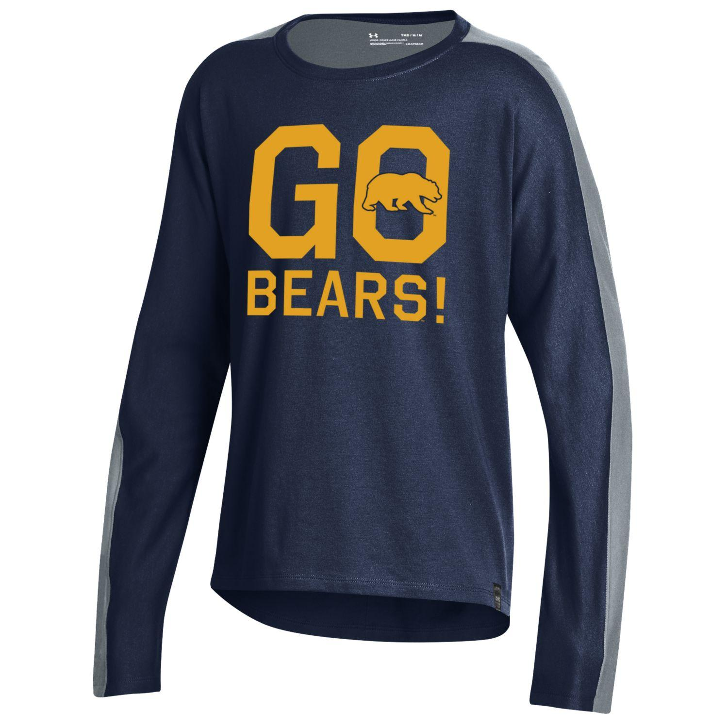 Cal Bears Under Armour Girls F19 SMU Ascend LS Tee