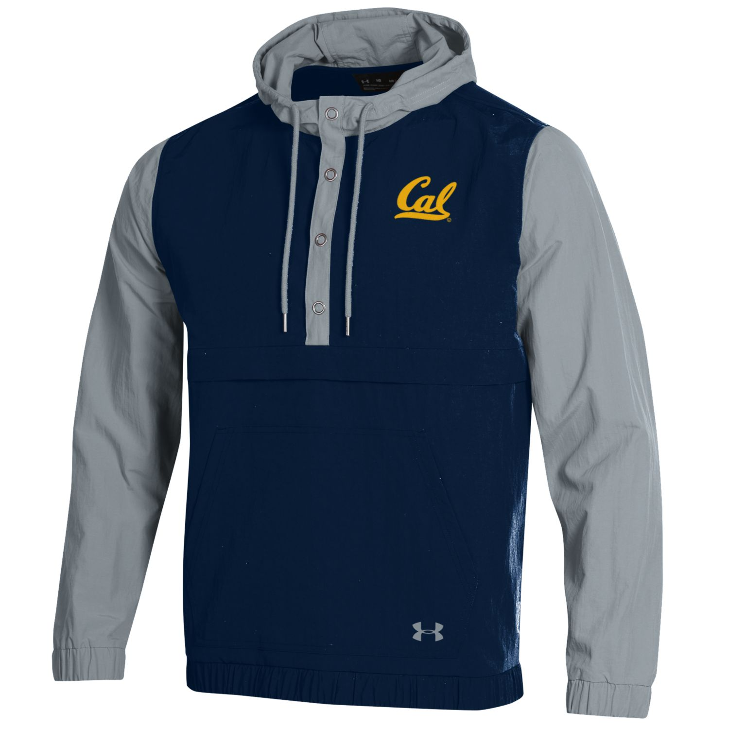 MD25-Cal Bears Under Armour Men's F19 SMU Crinkle Anorak Snapdown