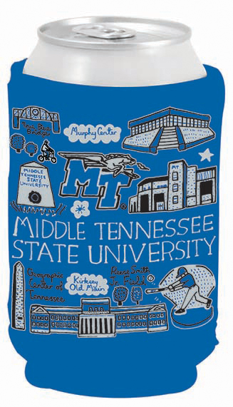 MTSU Julia Gash Sublimated Can Coozie