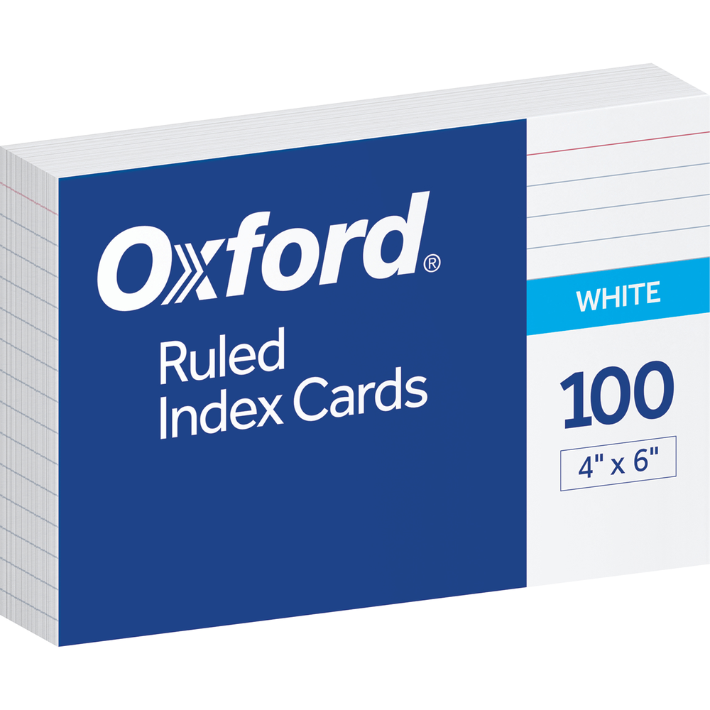 Oxford Index Card - White 3x5in Bulk Ruled