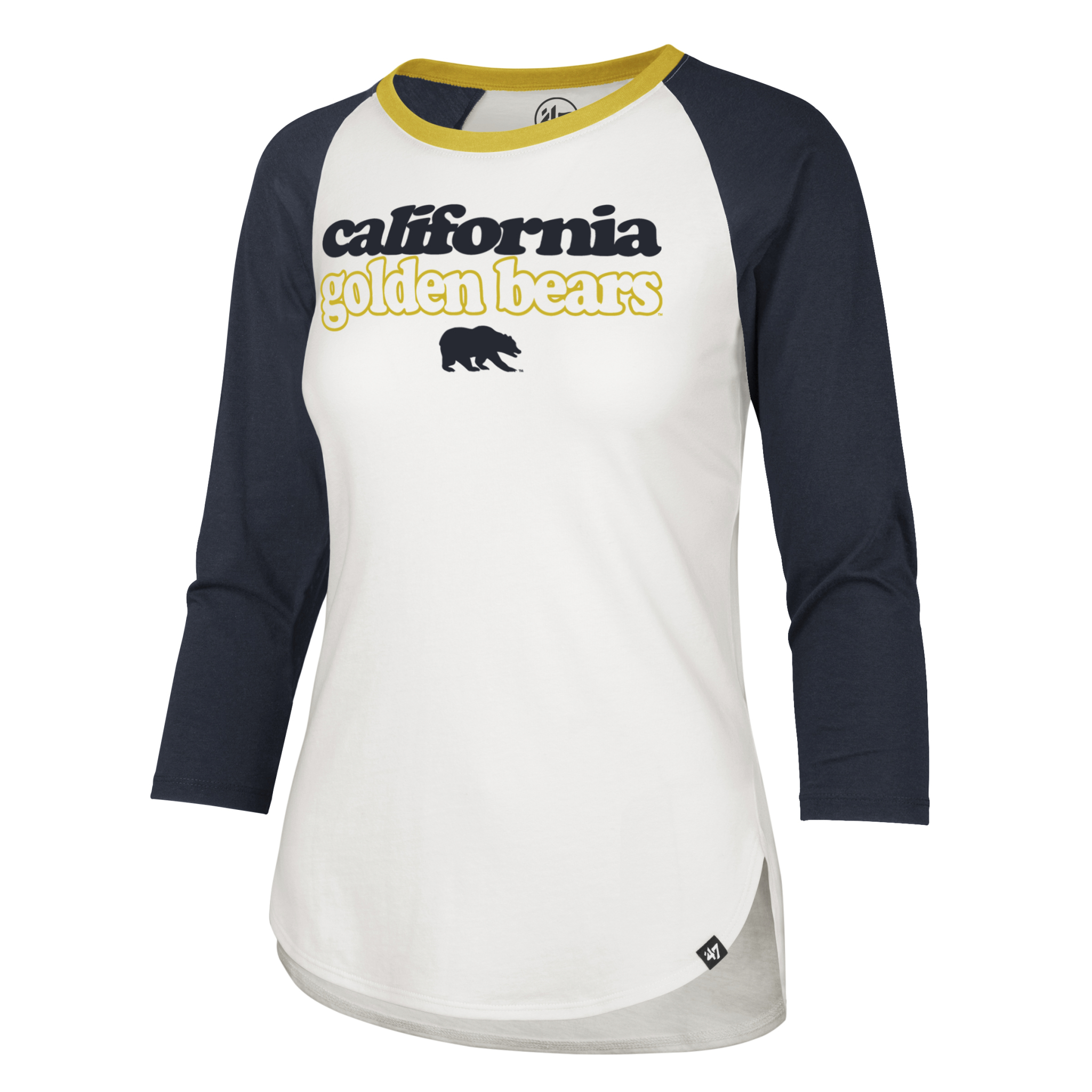Cal Bears W Hollow Stack Splitter Raglan