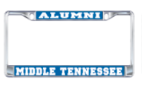 Middle Tennessee Alumni License Plate Frame