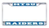 MTSU Raiders Domed License Plate Frame