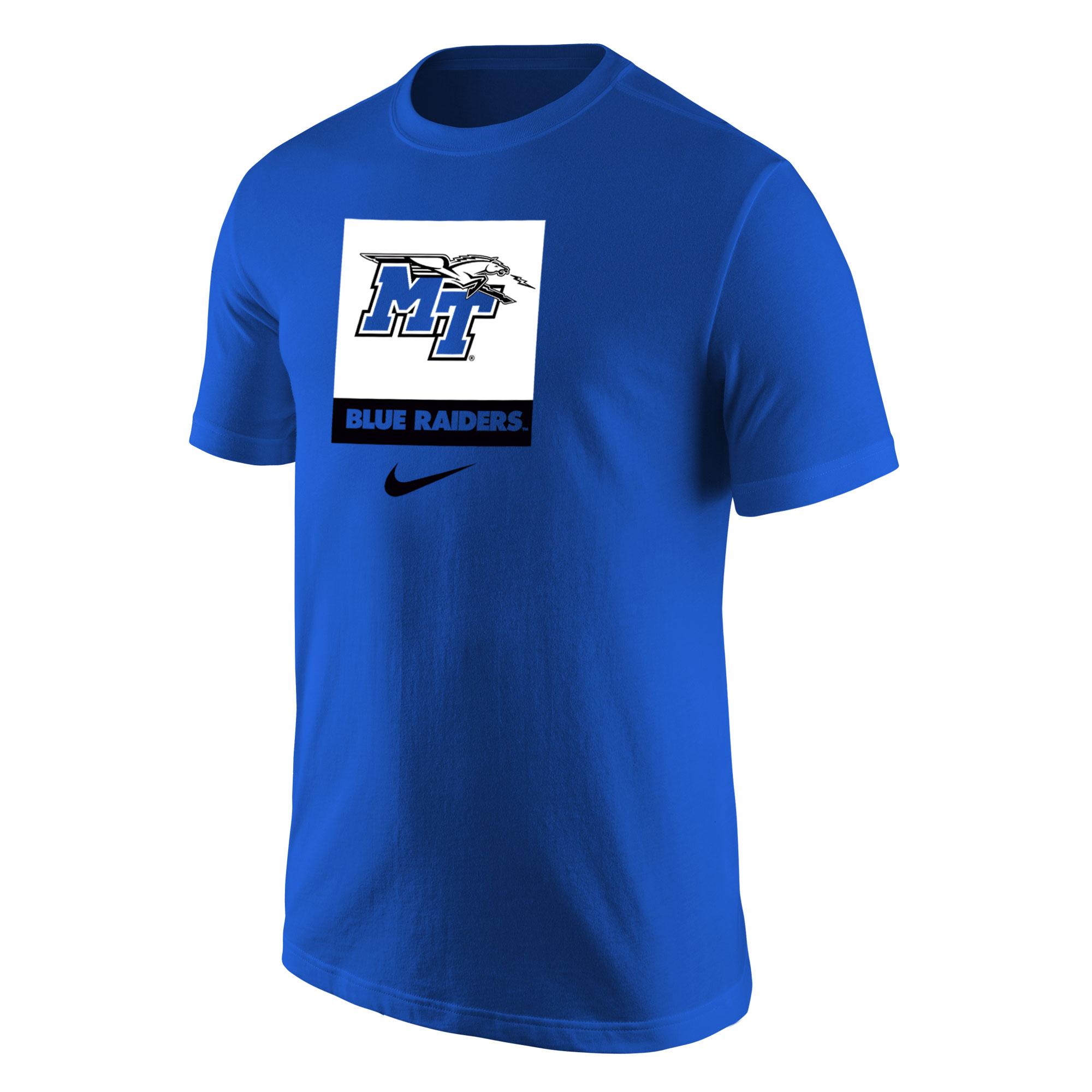 MT Logo w/ Lightning Blue Raiders Core Nike® Shirt