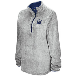 Cal Bears W Faux Fur 1/4 Zip