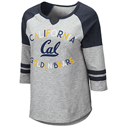 Cal Bears W York 3/4 Sleeve Tee