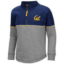 Cal Bears Girls Dot 1/2 Zip Pullover