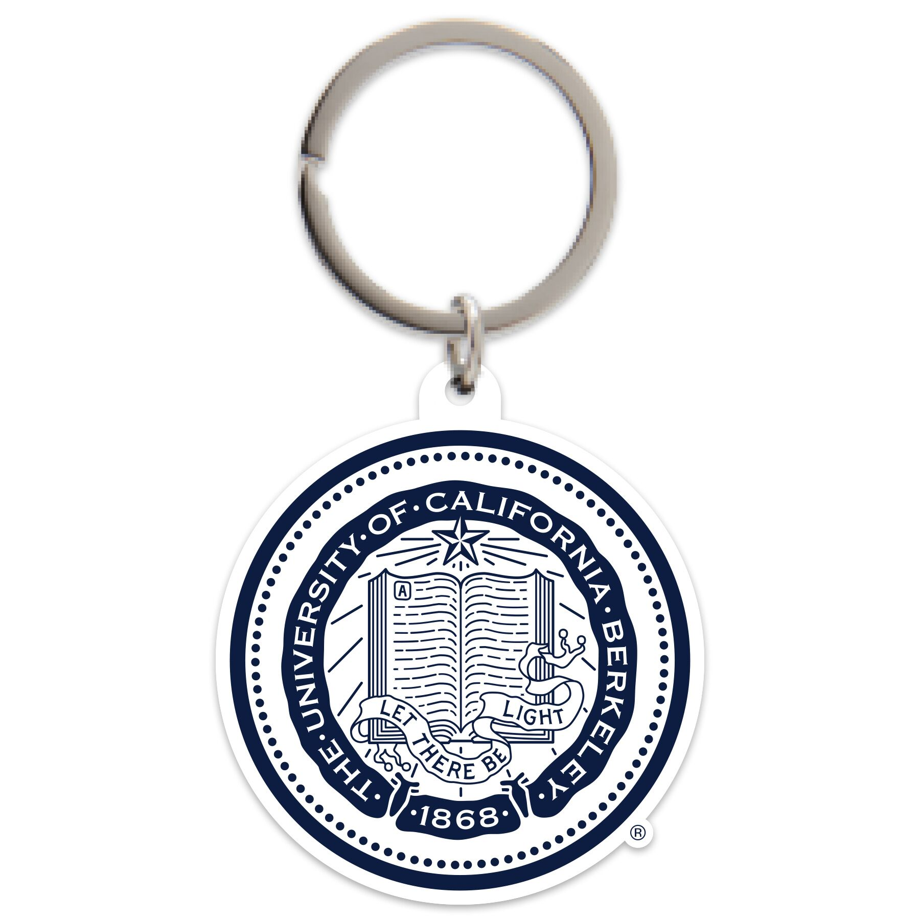 Cal Bears Vinyl Keychain with Seal